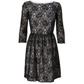 French Connection Vaity Lace Flared Dress